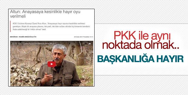 """Terör örgütü PKK'dan referanduma """"hayır"""" çağrısı"""