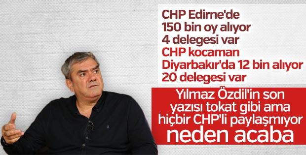 CHP'deki delege dengesizliğini Yılmaz Özdil anlattı