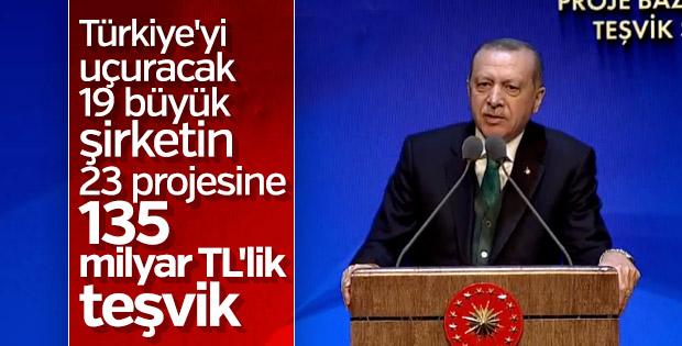 Cumhurbaşkanı Erdoğan Proje Bazlı Teşvik Sistemi Tanıtım Töreni'nde