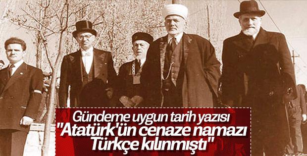 Mustafa Kemal Atatürk'ün cenaze namazında Türkçe ezan