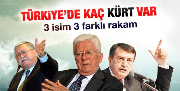 3 farklı ismin Türkiye'deki Kürt nüfusu rakamları