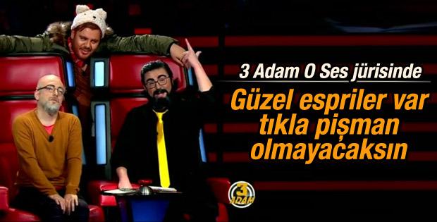 3 Adam'dan 2'nci O Ses Türkiye parodisi İZLE
