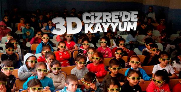 Cizre Belediyesi'nden 3 boyutlu sinema hizmeti