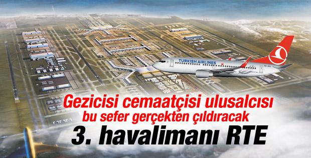 Üçüncü Havalimanı'nın ismi: Recep Tayyip Erdoğan İZLE
