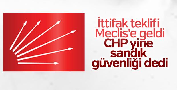 Cumhur İttifakı'na CHP'den ilk yorum