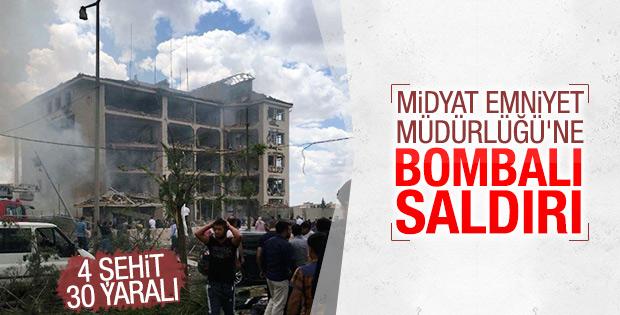 Mardin'de emniyet binasına bombalı saldırı