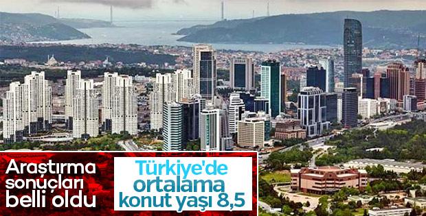 Türkiye ve İstanbul'un konut yaşı ortalamaları belirlendi