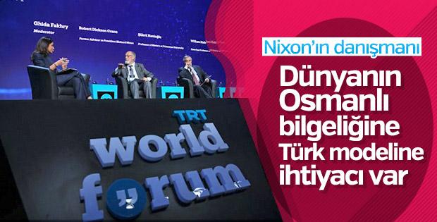 Robert Crane: Dünya Osmanlı bilgeliğine dönmeli