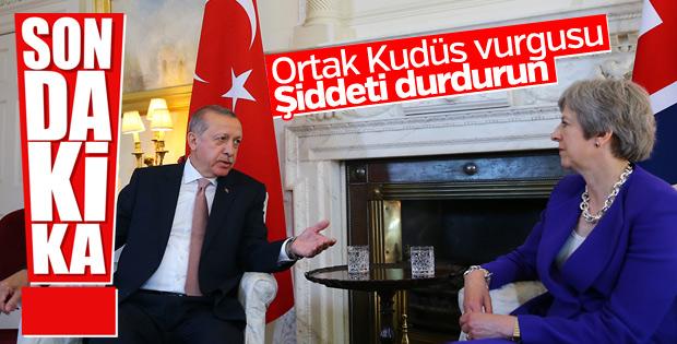 Erdoğan ile May ortak basın açıklaması yaptı