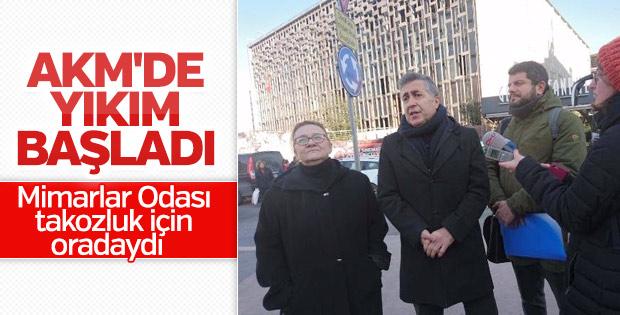 Mimarlar Odası Başkanı ile AKM yetkilisinin diyaloğu
