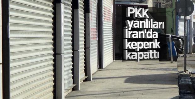 İran'da protesto, PKK yanlıları kepenk kapattı