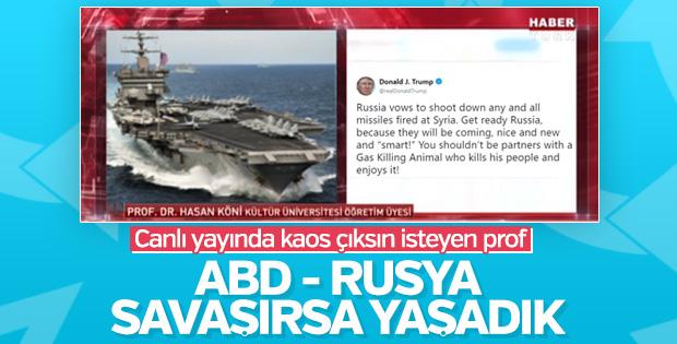 Prof. Köni canlı yayında Suriye'de kaos istedi