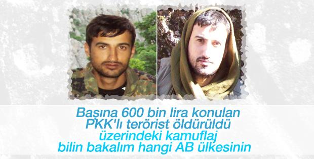 Tunceli'de başına 600 bin lira konulan terörist öldürüldü
