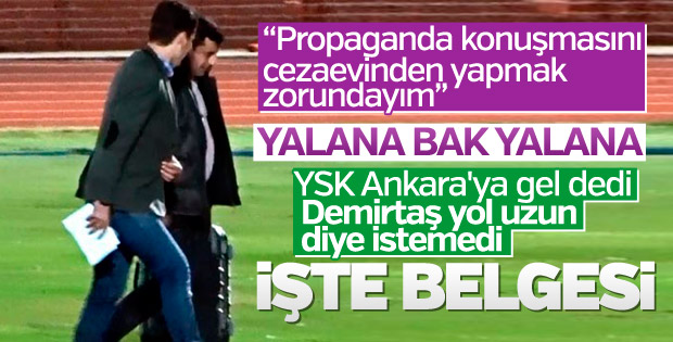 Demirtaş'ın TRT konuşması cezaevinde çekilecek