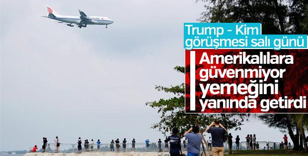 Kim Trump'la görüşmek için Singapur'a gitti