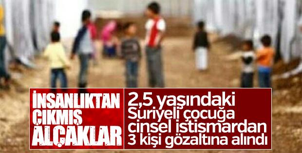 Suriyeli 2,5 yaşındaki kıza istismar iddiasına 3 gözaltı