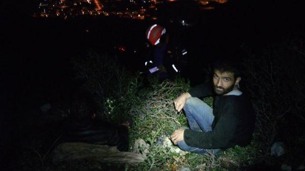 Denizli'de dağda düşüp yaralanan 2 İranlı kurtarıldı