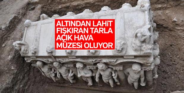 Bursa'da her köşesinden lahit fışkıran tarla müzeleşiyor