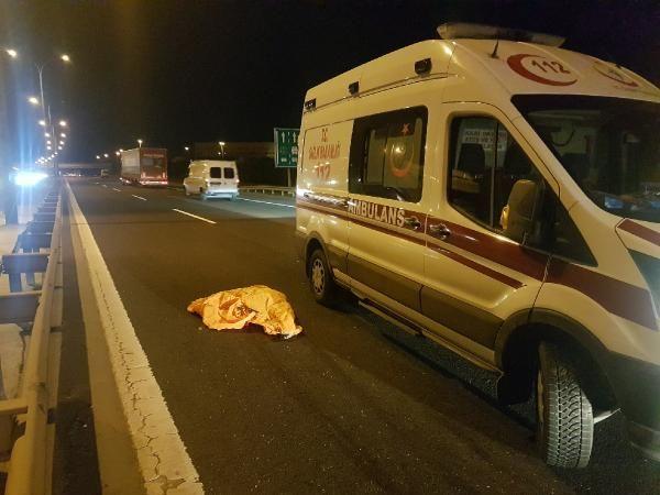 TEM'de kaza sonrası ceset paramparça oldu