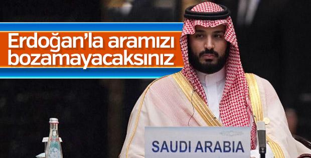 Veliaht Prens: Türkiye ile aramızı bozmaya çalışıyorlar