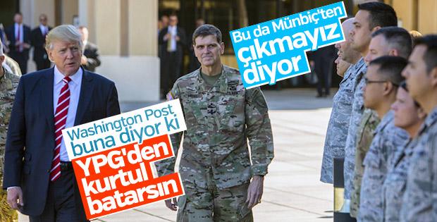 ABD'li General Münbiç'ten çekilmeyeceklerini açıkladı