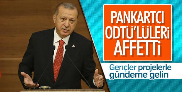 Başkan Erdoğan, ODTÜ'lülerle bir araya geldi