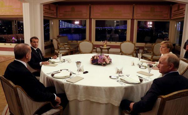 4'lü Suriye Zirvesi sonrası liderler yemekte buluştu
