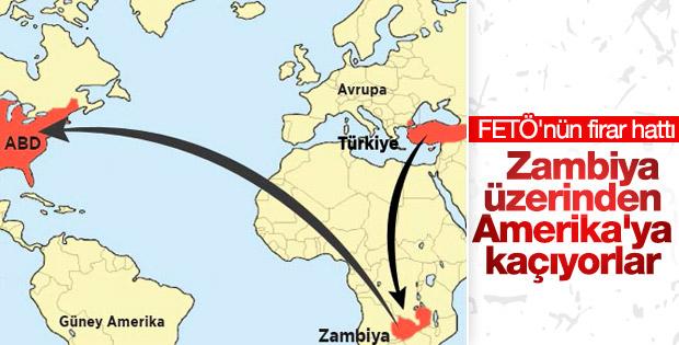 FETÖ'cüler Zambiya üzerinden ABD'ye kaçıyor