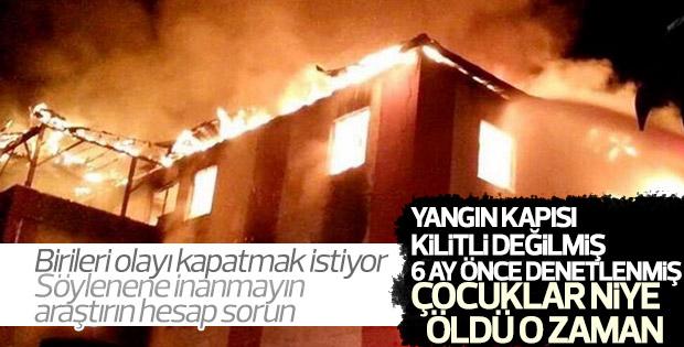 Yurt yangınıyla ilgili Veysi Kaynak'tan açıklama
