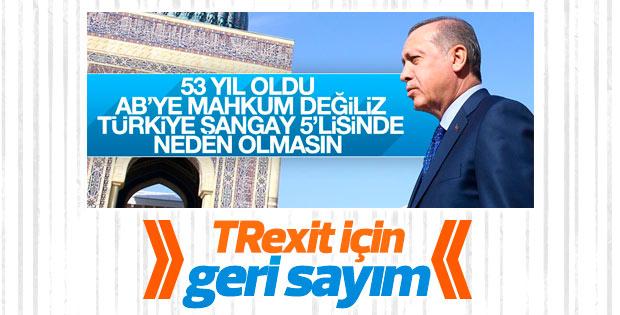 Erdoğan AB'nin alternatifini işaret etti: Şangay 5'lisi
