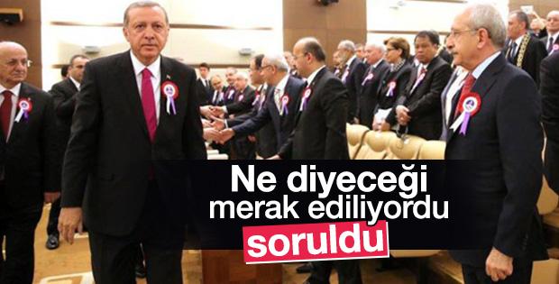 Kemal Kılıçdaroğlu Erdoğan'ın el sıkmamasına içerledi