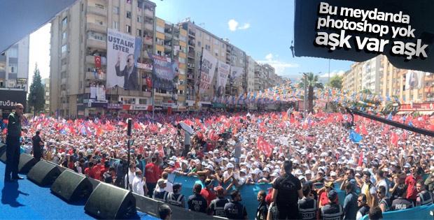 Cumhurbaşkanı Erdoğan için Kahramanmaraş'ta dev kalabalık