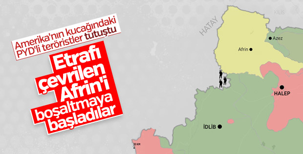 PKK Afrin'i boşaltıyor