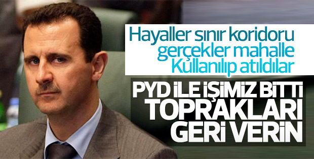 Suriye'de rejim PYD'yi sattı