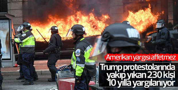 Trump'a karşı gösteri yapan 230 kişi yargılanıyor