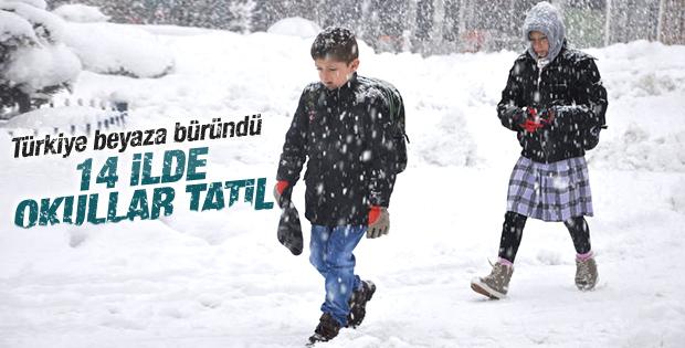 Kar nedeniyle eğitime ara verilen iller