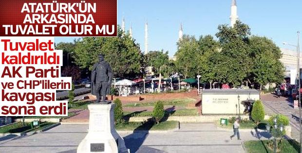 Edirne'deki olaylı tuvalet kaldırıldı