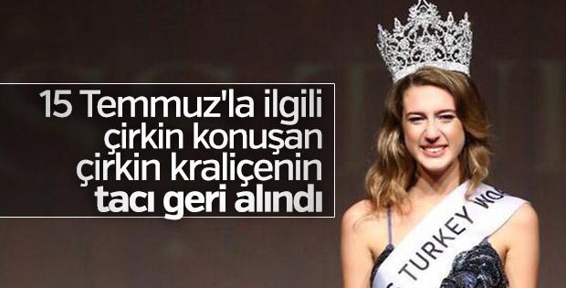 Miss Turkey kraliçesinin tacı geri aldı
