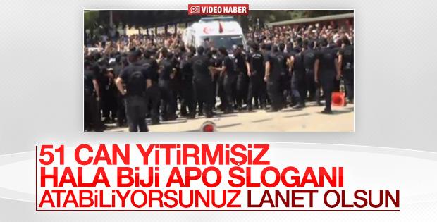 Gaziantep'teki cenaze namazında provokasyon