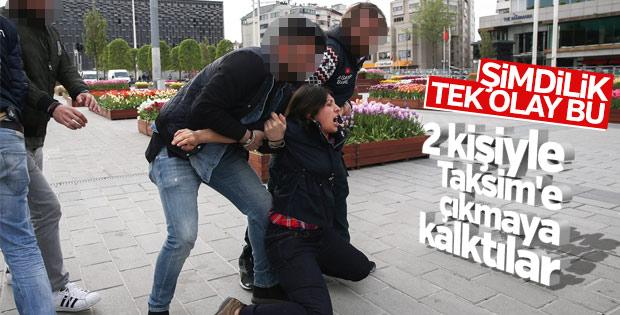 Taksim'e girmek isteyenler gözaltına alındı
