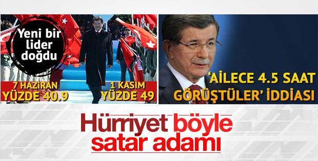 Hürriyet'ten Davutoğlu'nu kızdıracak manşet