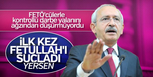 Kılıçdaroğlu FETO'ya ilk kez darbeci dedi