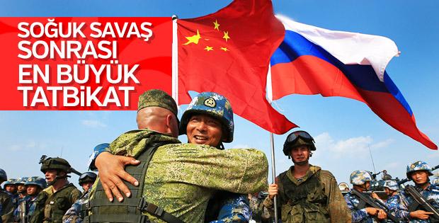 Rusya ile Çin'den devasa askeri tatbikat