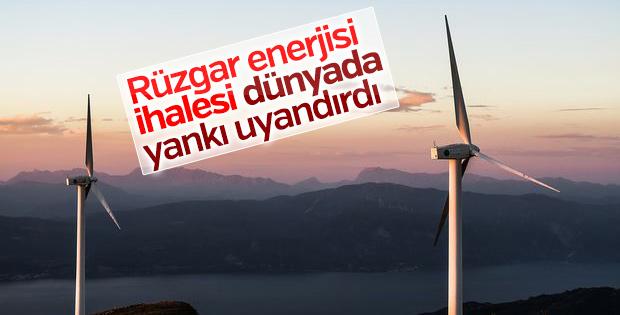 Rüzgar enerjisi ihalesi dünyada yankı uyandırdı