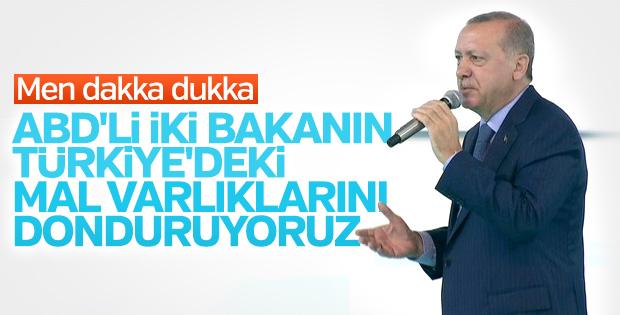 Başkan Erdoğan ABD'ye yaptırım uygulanacağını açıkladı