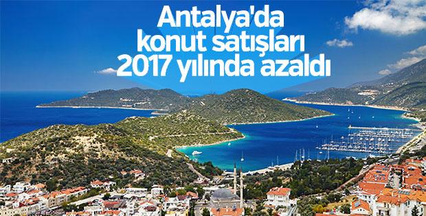Antalya'da konut satışları 2017 yılında yüzde 0,6 azaldı