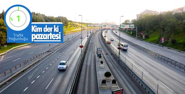 İstanbul'da yollar boşaldı