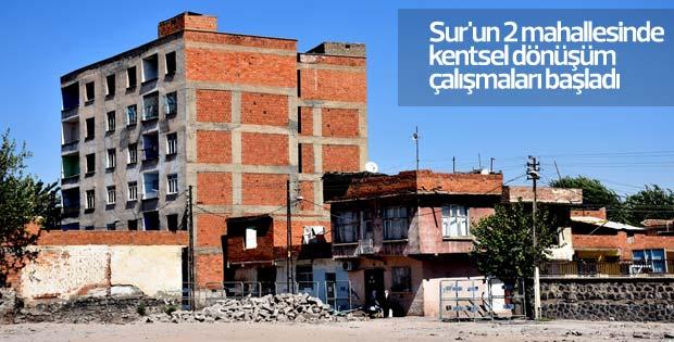 Sur'un 2 mahallesinde kentsel dönüşüm çalışmaları başladı