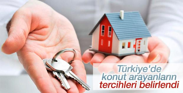 Türkiye'de konut arayanların tercihleri belirlendi