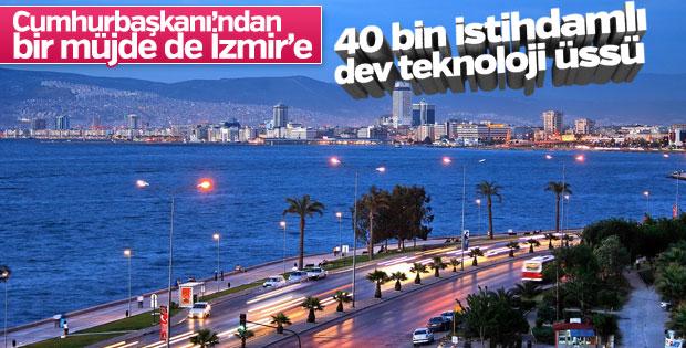 Cumhurbaşkanı Erdoğan'dan İzmir'e teknoloji üssü müjdesi